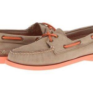 Sperry Top-Sider stone/coral boat shoes